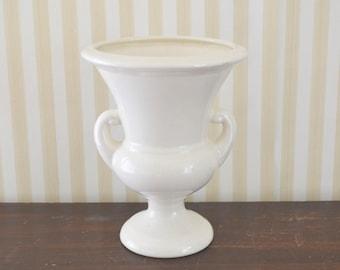 Vintage Creamware Urn