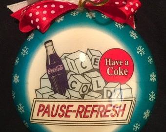 Coca Cola plastic  Christmas ornament