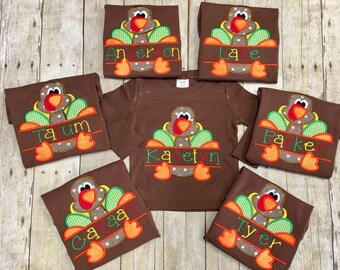 Boys Turkey Shirt, Thanksgiving Shirt, Boys Fall Shirt, Halloween Shirt, Boys Thanksgiving, Thanksgiving Baby, Sizes 12 month- Youth 12