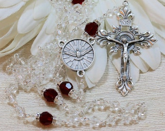 Catholic Swarovski Confirmation Rosary