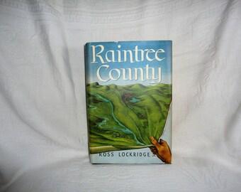 Raintree County Hardcover Book By Ross Lockridge JR Houghton Mifflin Company Publishers Vintage Novel