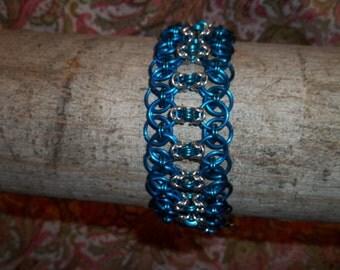 Blue and silver Helm with Byzantine Bracelet