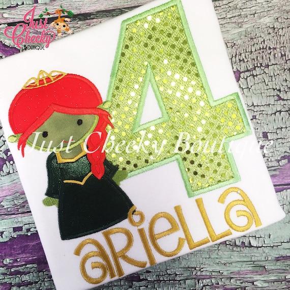 Fiona Cutie Embroidered Shirt - Shrek Inspired - Princess Ogre - Shrek Birthday Shirt - Princess Fiona Birthday Shirt