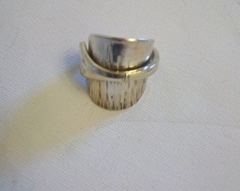 Hand Made Ring made out of Vintage Cutlery - A small spoon