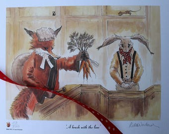 A Brush with the Law - a limited edition print by artist Leila Winslade