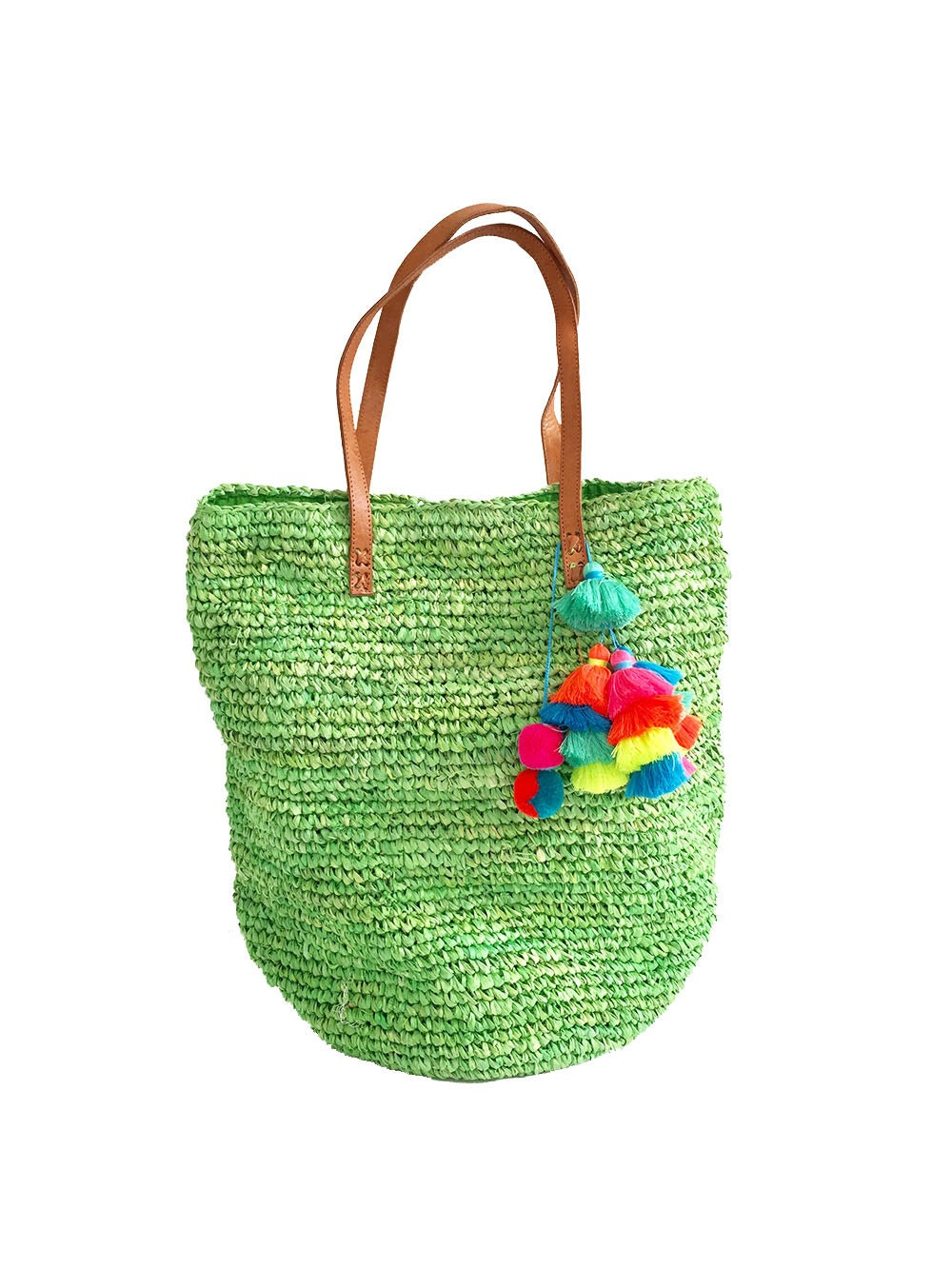 handwoven bag straw tote straw bagbeach bags tassel