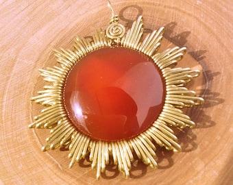 Sun earring agate