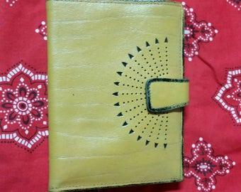 Vintage Mustard Color Cowhide Split Princess Gardner Wallet/Billfold