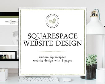 Squarespace Website Design with up to 6 Pages Included - Squarespace Template - Photography Website Design - Wedding Website