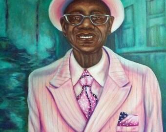 Jazz Man - Digital Download of Portrait of New Orleans Zoot Suit Swinger