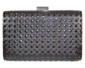 Essential Black Studded Clutch purse evening bag from TheArtfulBag