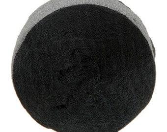 Black Crepe Paper Streamer (1 3/4in. x 81 feet) - 1 Roll