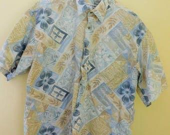 Vintae, Pierre Cardin, Men's SHort Sleeve Shirt, 100% Cotton