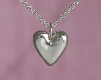 Sterling Silver Heart Charm – Sterling Heart Charm Necklace – Sterling Silver Heart Pendant – Sterling Silver Heart Necklace – Heart Jewelry