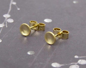 Tiny Gold Studs, Small Gold Earrings, 18ct Gold Plated Stud Earrings, Tiny Circle Studs Earrings, Simple Gold Earrings, Birthday Present