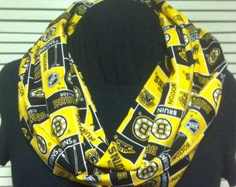 NHL Boston Bruins Hockey Cotton Infinity Scarf