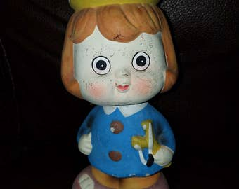 Vintage Bank Girl Bobblehead