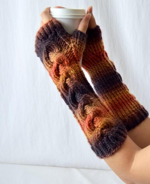 Fingerless Gloves Knitting Pattern, DK Hand Warmer, PDF ...