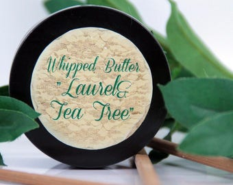 "Whipped butter for dry, sensitive skin ""Laurel&Tea Tree"", dry skin butter, sensitive skin butter, dehydrated skin butter, organic butter"