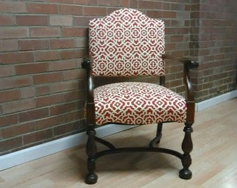 Vintage Arm chair, Restructured antique Arm Chair, office chair, living room chair, antique chair,Upcycled Antique Chair