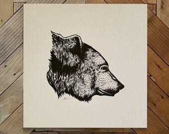 Bear Screenprint
