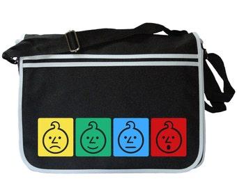 Ashens Sad Onion Colours Black Messenger Shoulder Bag