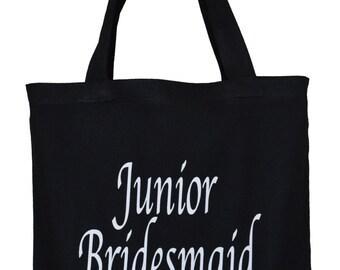 Junior Bridesmaid Wedding Canvas tote bag. Bridal party accessory.Bridesmaid,bride's entourage