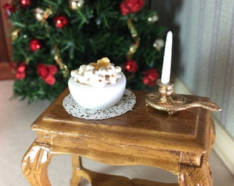 1/12th Scale Bowl of Buttered Popcorn for Holiday Entertaining or Any Night of the Week in Your Dollhouse