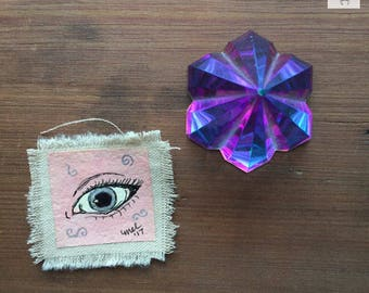 Pink Eye Canvas patch