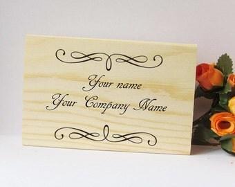 Custom Wood Namecard box, wood burn, pyography, wood decor, wood box, name card holder, ShineKidsCrafts