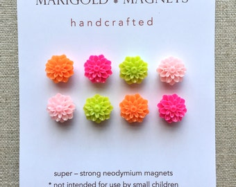 Easter hostess gift etsy easter gift small super strong magnets spring magnets set of 8 pink lime negle Choice Image