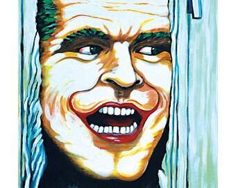 """Art Print """"Here's Joker"""""""