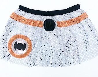 BB8 Star Wars Inspired running skirt