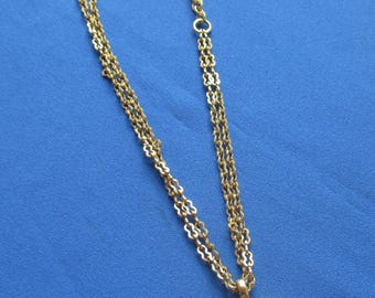 Retro Two Strand Pendant Metal Chain Necklace