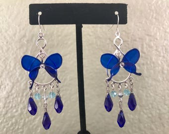Royal Blue Wire Resin Butterfly Earing