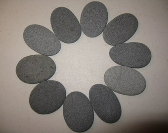 "45 Stones 1.5""- 2"" Very Thin, Flat, 0val, Rocks, Wishing Stones, Wedding Decor, Unique"