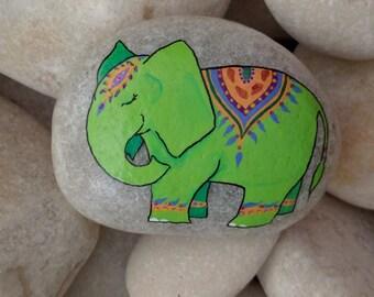 Green Lucky Elephant Stone