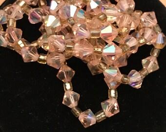 vintgae pink crystal beaded necklace Hong Kong
