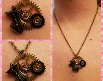 Lady of steampunk necklace