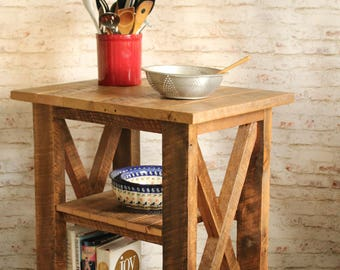 Kitchen Island made from reclaimed wood - kitchen furniture - small table - workbench