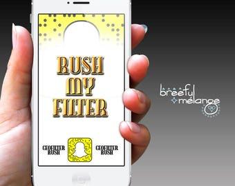 Rush My Filter - Custom Geofilter Rush 12 hour and 24 hour Rush