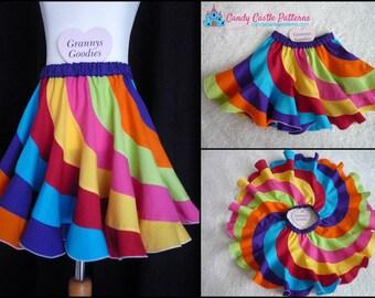 Peppermint Swirl Skirt Hack/Tutorial