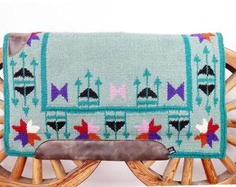 Merino Mohair Wool Western Horse Saddle Pad Blanket Handmade by MadcoW