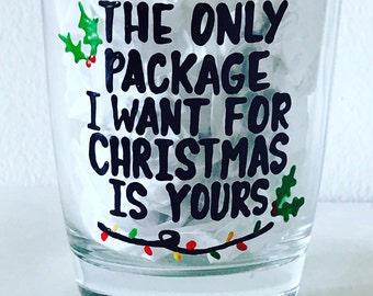 The only package I want for Christmas is yours | All I want for Christmas | whiskey scotch gift | husband funny christmas | christmas humor