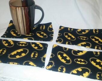 Batman, Mug Rug, Homemade, One Of A Kind, Made In Michigan,