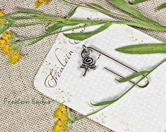 paperclip flower silver vintage style paper clip bookmark