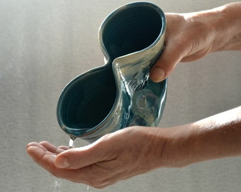 Jewish Law Ritual Hand Washing Cup, Star of David, Judaica Ceramic Natla, Netilat Yadayim, Clean Hand Ceremony, Wedding Anniversary Gift