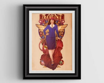 Call Me Agent - Agent Carter - signed 8x12 Lustre Art Print