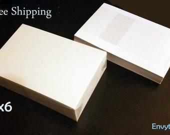 4x6 Blank White Cardstock