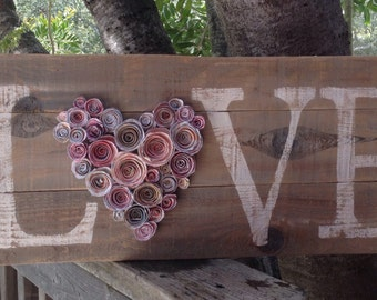 Wedding Sign, Love Sign, Wedding Decor, Shabby Chic Sign, Shabby Wedding